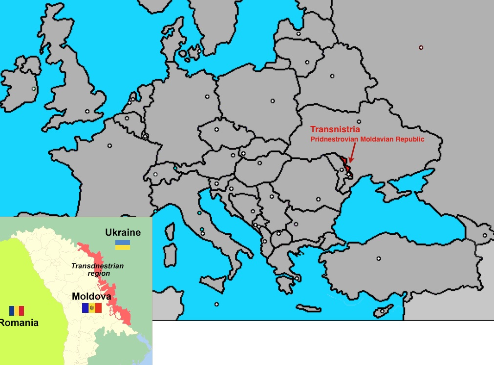 Mappa Transnistria