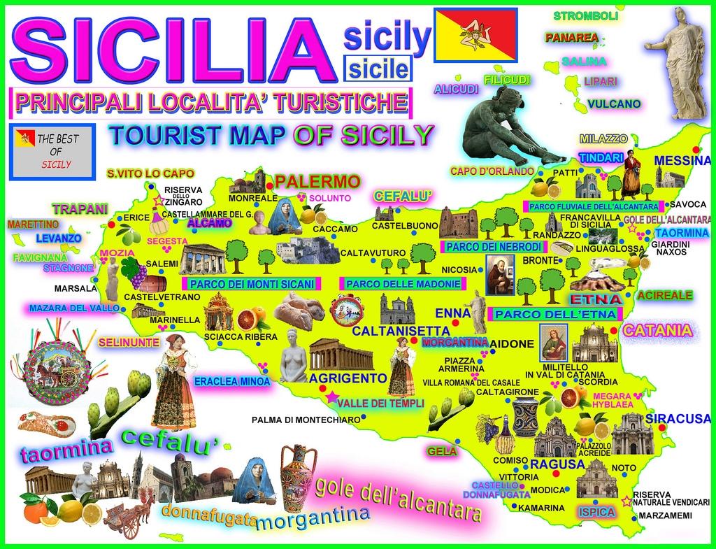 Aeroporti In Sicilia Cartina.Cosa Vedere In Sicilia La Mappa Dei Monumenti E Dei Luoghi Da Visitare I Viaggi Di Speedy Giuseppe Spitaleri Travel Blogger