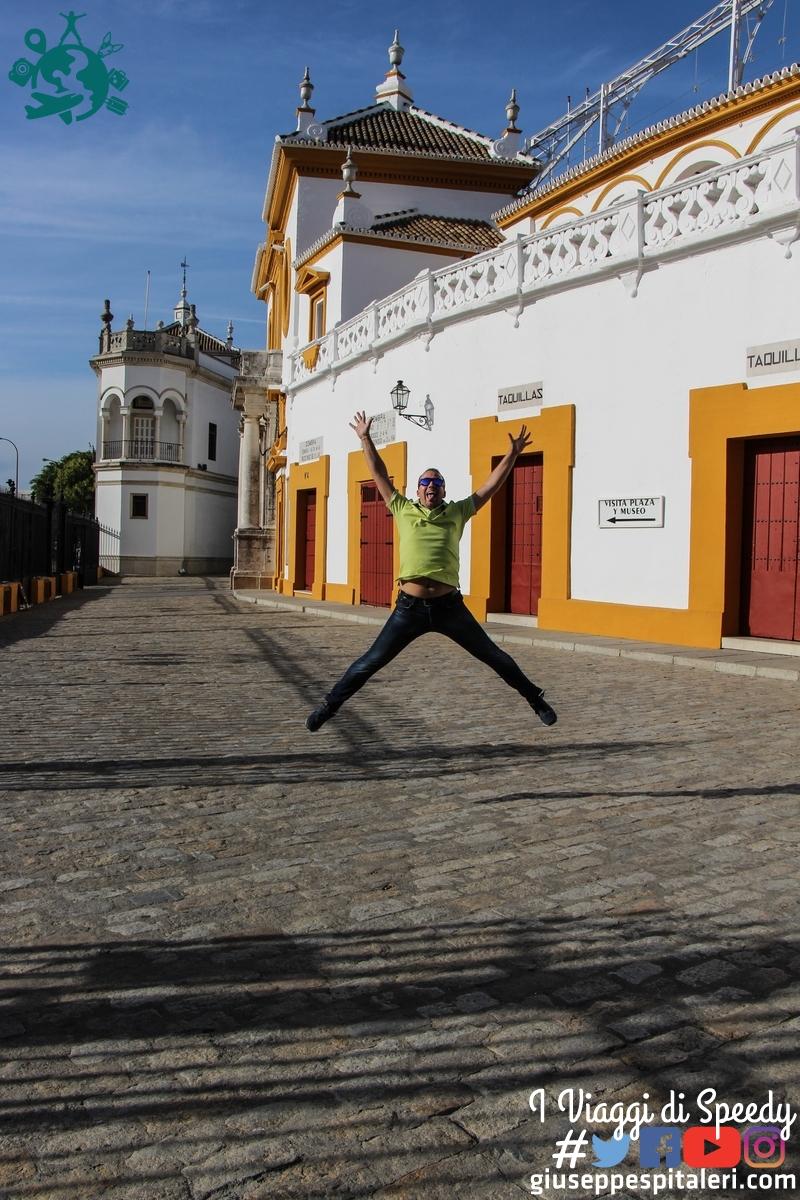 Un salto a Plaza de Toros di Siviglia (Spagna)