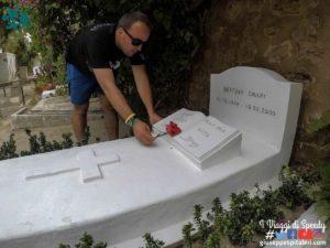 La tomba di Bettino Craxi ad Hammamet (Tunisia) dentro il cimitero cattolico