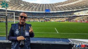 Fotografo allo Stadio Olimpiyskiy di Kiev per Dynamo Kyiv contro Dnipro